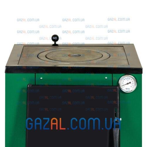 Твердотопливный котел с плитой Макситерм ЛЮКС 15 кВт