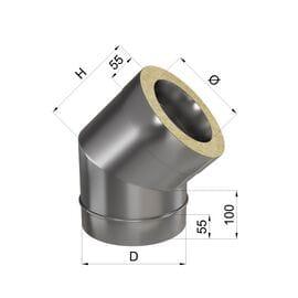 Колено 45° н\н 0,8 мм