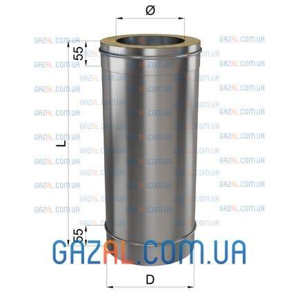 Труба L 500 н/оц 1мм