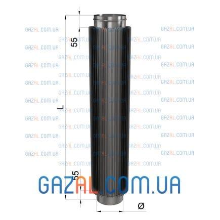 Труба-радиатор из нержавеющей стали - L-1000 1мм