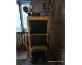Монтаж твердотопливного котла в частном доме 15 кВт