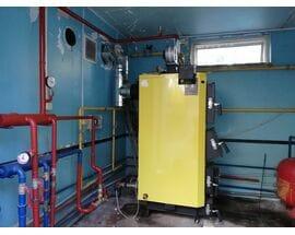 Монтаж твердотопливного котла KRONAS UNIC-P 42 кВт