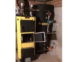 Монтаж твердотопливного котла KRONAS UNIC 15 кВт