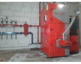 Пеллетный котел Альтеп 95 кВт - монтаж - запуск