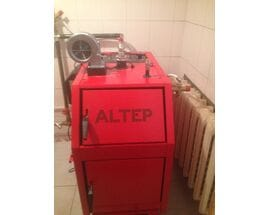 Монтаж котла длительного горения ALTEP TRIO UNI PLUS 14 кВт
