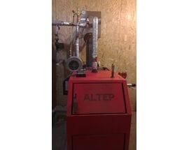 Монтаж котла длительного горения ALTEP TRIO UNI PLUS 30 кВт