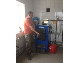 Монтаж котла длительного горения НЕУС ВИЧЛАЗ 25 кВт