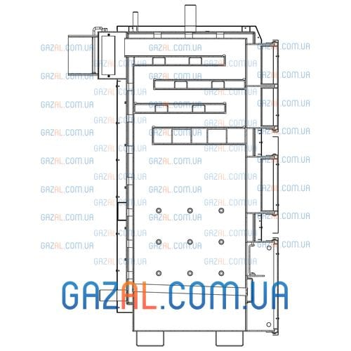 Твердотопливный котел KRAFT L - мощность: 75 кВт, 100 кВт