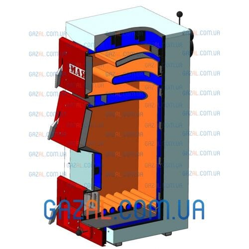 Твердотопливный котел Маяк STANDARD PLUS 6 мм (12-50) кВт