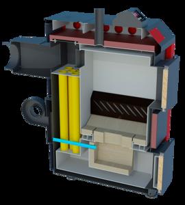 Пиролизный котел Termico 12 кВт для дома до 120 кв.м.